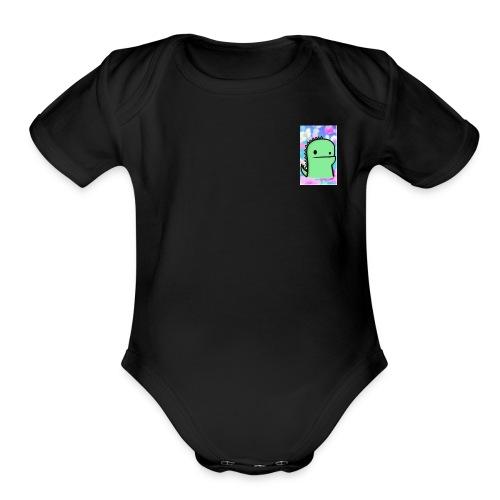1. Dino - Organic Short Sleeve Baby Bodysuit
