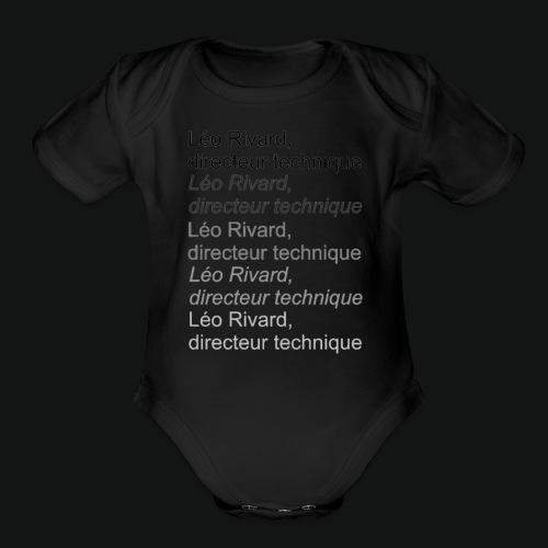 LEO TECHNICAL Rivard - Organic Short Sleeve Baby Bodysuit