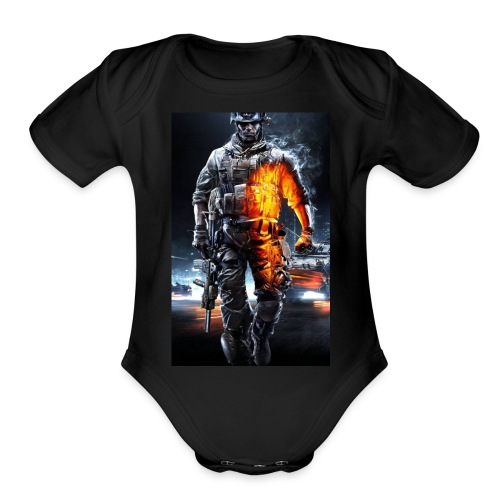 Cod fan - Organic Short Sleeve Baby Bodysuit