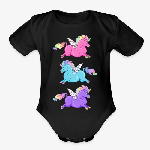 Multi Fabulous - Organic Short Sleeve Baby Bodysuit