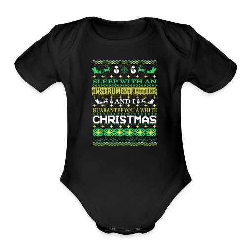 UGLY SWEATER INSTRUMENT FITTER XMAS T-SHIRTS - Organic Short Sleeve Baby Bodysuit