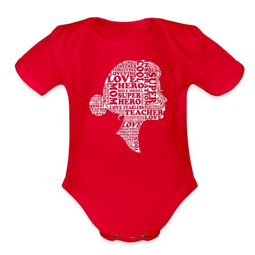 Mother Definition, Teacher Mom, Great Teacher Mom - Organic Short Sleeve Baby Bodysuit