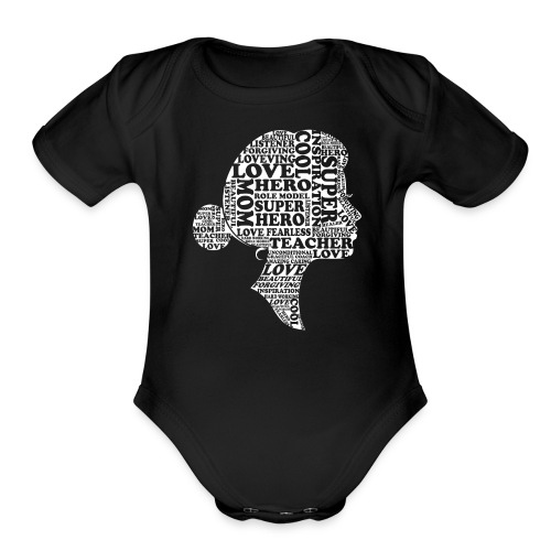 Mother Definition, Teacher Mom, Great Teacher Mom - Organic Short Sleeve Baby Bodysuit