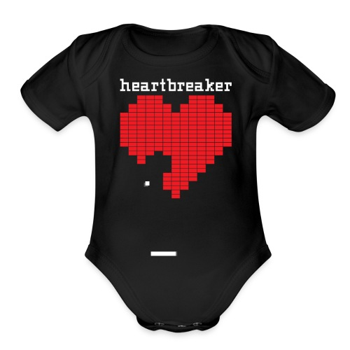 Heartbreaker Valentine's Day Game Valentine Heart - Organic Short Sleeve Baby Bodysuit