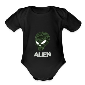 Military Alien - Short Sleeve Baby Bodysuit