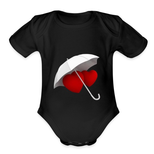love valentin day - Organic Short Sleeve Baby Bodysuit
