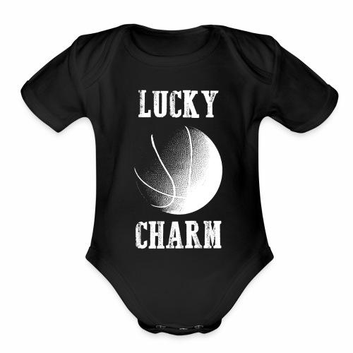 lucky charm basketball - Organic Short Sleeve Baby Bodysuit
