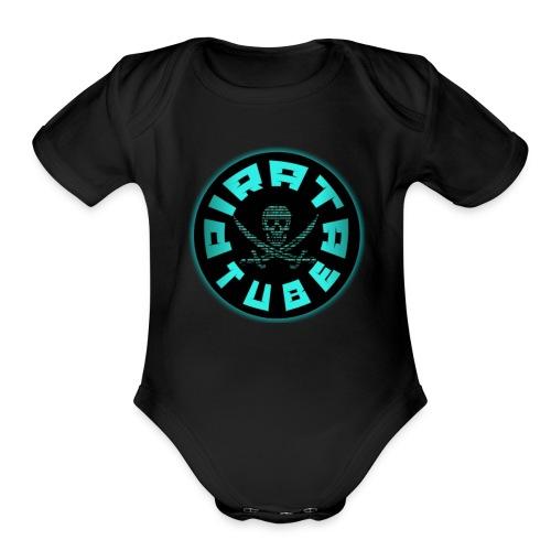 PIRATA TUBE YT - Organic Short Sleeve Baby Bodysuit