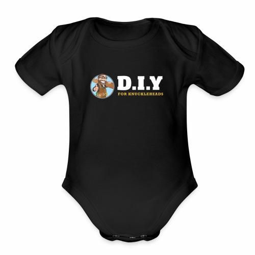 DIY For Knuckleheads Logo. - Organic Short Sleeve Baby Bodysuit