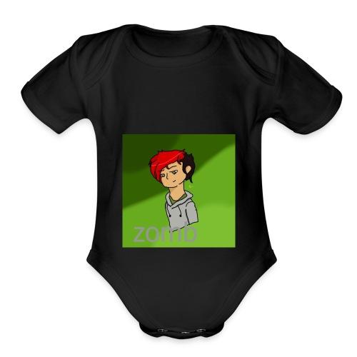zomb is nere - Organic Short Sleeve Baby Bodysuit
