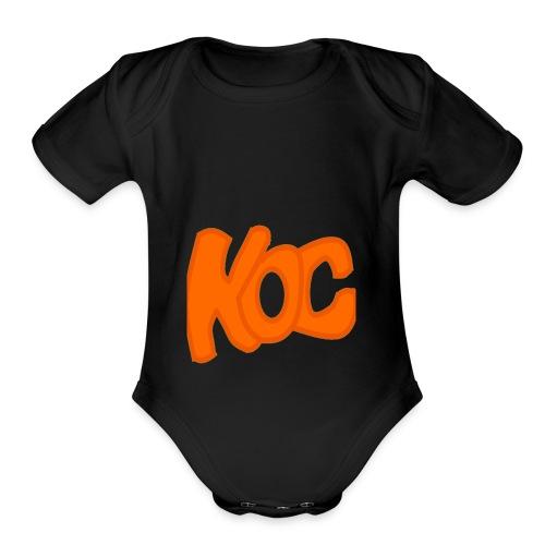 KingOfCookies Collection - Organic Short Sleeve Baby Bodysuit
