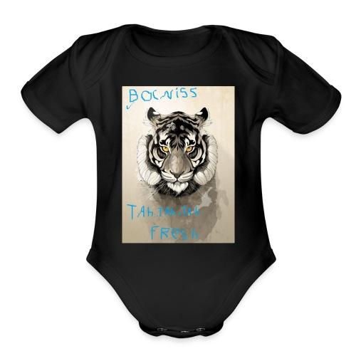 tah.tah.tah clan fan hoodie - Organic Short Sleeve Baby Bodysuit