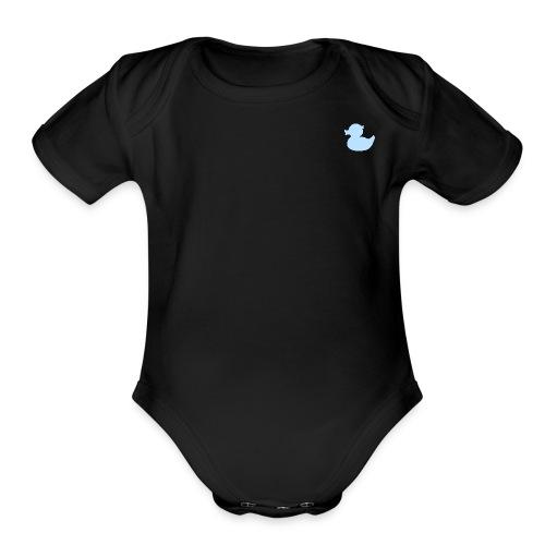 DuckyBlue - Organic Short Sleeve Baby Bodysuit