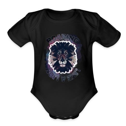 Roaring like a lion - Organic Short Sleeve Baby Bodysuit