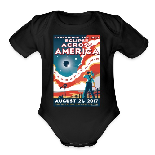 Official 2017 Eclipse Across America Gear - Organic Short Sleeve Baby Bodysuit