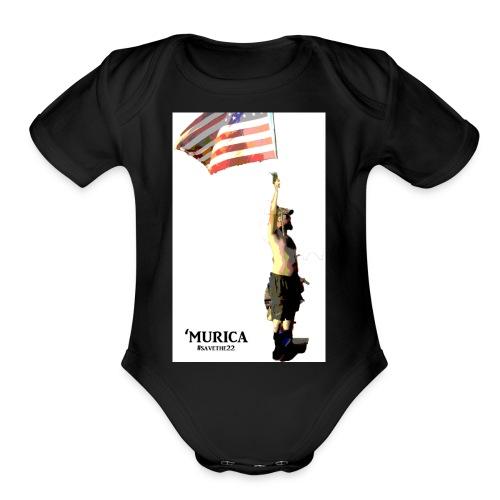 murica - Organic Short Sleeve Baby Bodysuit