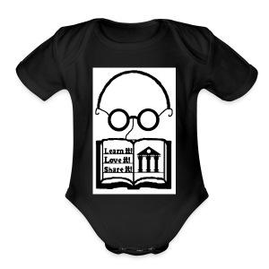Learn it! Love it! Share it! - Short Sleeve Baby Bodysuit