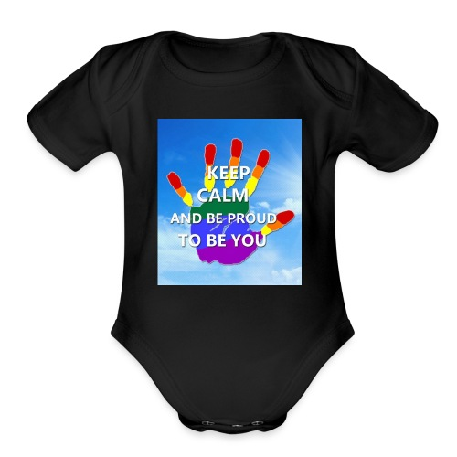 pride stock2 2 - Organic Short Sleeve Baby Bodysuit