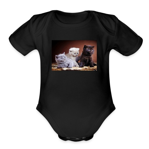 The 3 little kittens - Organic Short Sleeve Baby Bodysuit