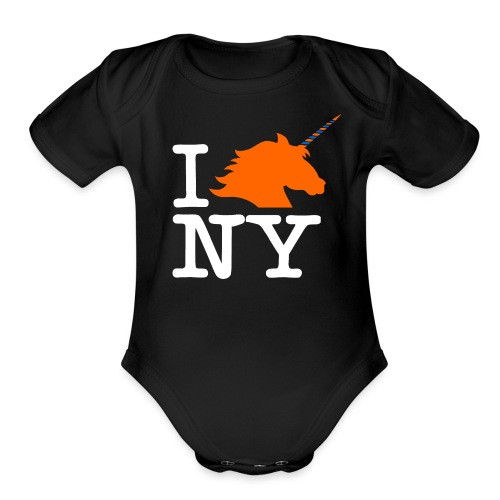 I Unicorn New York (Kristaps Porzingis) - Organic Short Sleeve Baby Bodysuit