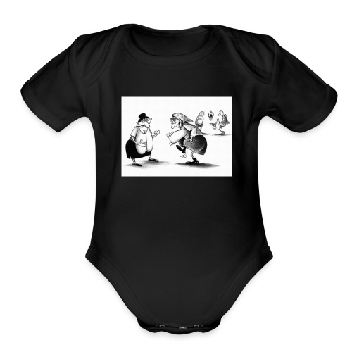 Give me a pass and I'll score - Organic Short Sleeve Baby Bodysuit