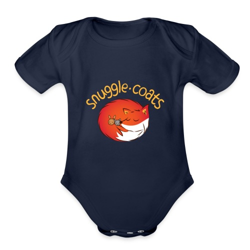 snugglecoats light png - Organic Short Sleeve Baby Bodysuit