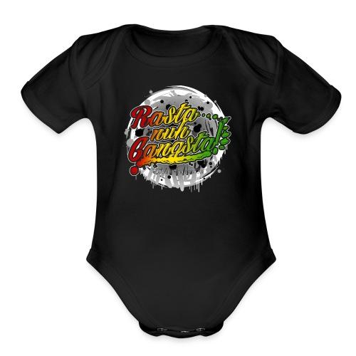 Rasta nuh Gangsta - Organic Short Sleeve Baby Bodysuit