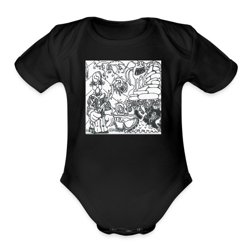Pressure Clown Archives II Cover - Organic Short Sleeve Baby Bodysuit