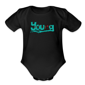 YOUNG - Short Sleeve Baby Bodysuit
