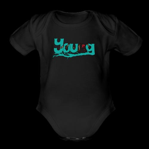 YOUNG - Organic Short Sleeve Baby Bodysuit