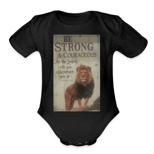lion updates picture - Short Sleeve Baby Bodysuit