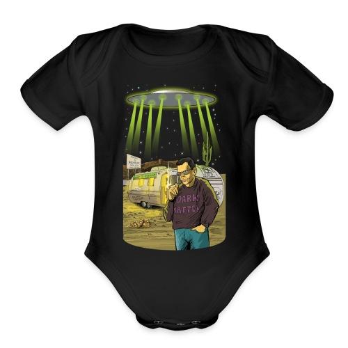 Art Bell Coast to Coast UFO Sighting - Organic Short Sleeve Baby Bodysuit