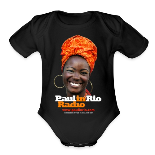 Paul in Rio Radio - Mágica garota - Organic Short Sleeve Baby Bodysuit