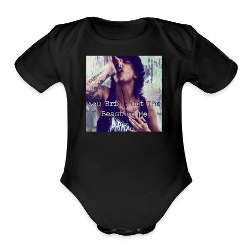 kellin quinn quote hoodie - Organic Short Sleeve Baby Bodysuit