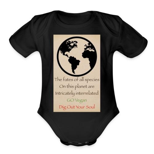 eco not ego - Organic Short Sleeve Baby Bodysuit