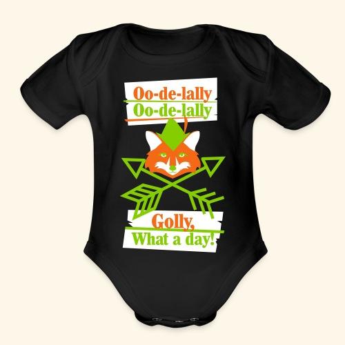 Ooodelally2 - Organic Short Sleeve Baby Bodysuit