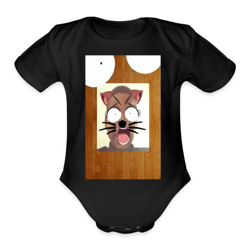 Face Change 1515867704471 - Organic Short Sleeve Baby Bodysuit