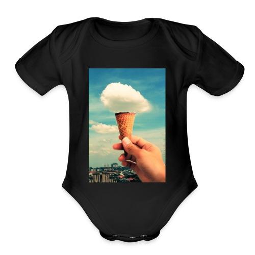 ice cream cones - Organic Short Sleeve Baby Bodysuit