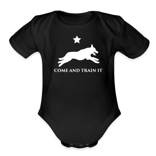 Come And Train It K9 - Organic Short Sleeve Baby Bodysuit