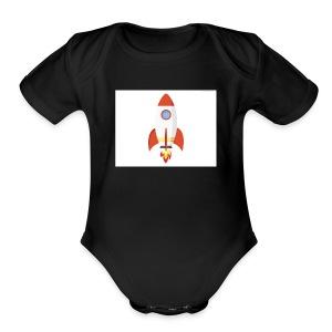 rocket t - Short Sleeve Baby Bodysuit