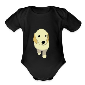 Golden Retriever puppy - Short Sleeve Baby Bodysuit