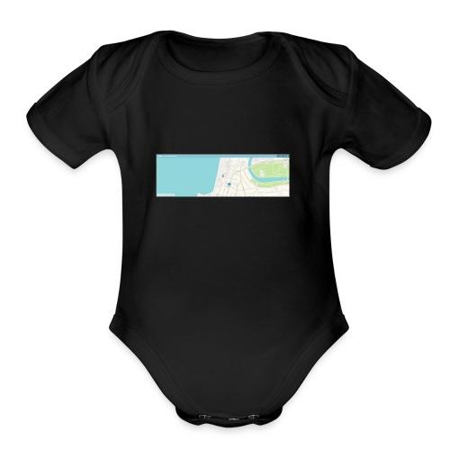 waze - Organic Short Sleeve Baby Bodysuit