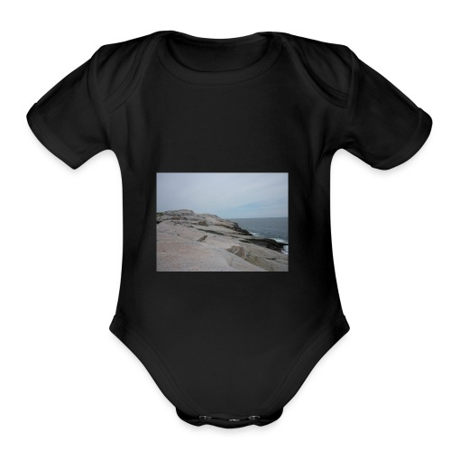 P1000118 - Organic Short Sleeve Baby Bodysuit