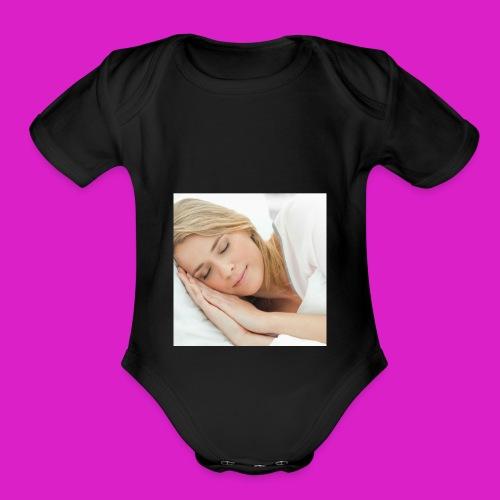 Sleep tight - Organic Short Sleeve Baby Bodysuit