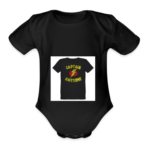 Captain awesome - Organic Short Sleeve Baby Bodysuit