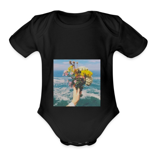 Bouquet - Organic Short Sleeve Baby Bodysuit