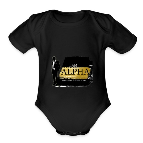Alpha shirt - Organic Short Sleeve Baby Bodysuit