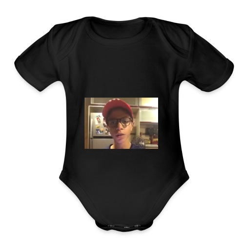 Yousef tube sucks! - Organic Short Sleeve Baby Bodysuit