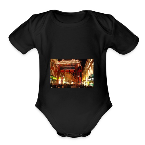 CNY Nights - Organic Short Sleeve Baby Bodysuit