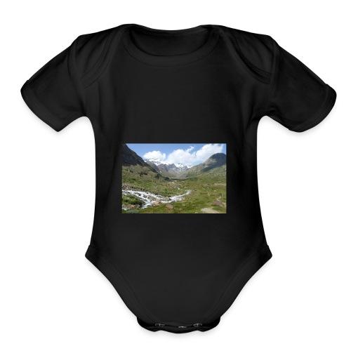 122536382 - Organic Short Sleeve Baby Bodysuit